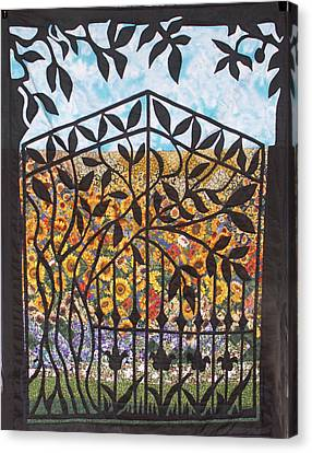 Sunflower Garden Gate Canvas Print