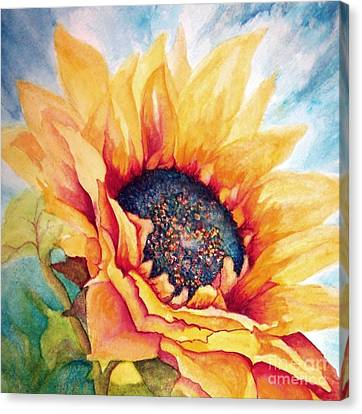 Close Up Floral Canvas Print - Sunflower Joy by Janine Riley