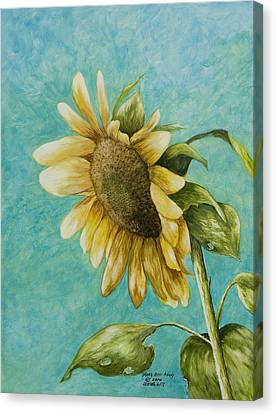Sunflower Number One Canvas Print
