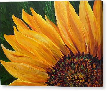 Sunflower Oil Painting Canvas Print by Mary Jo Zorad
