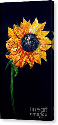 Sunflower Outburst Canvas Print by Eloise Schneider