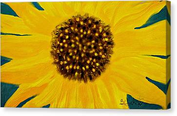 Sunflower Painting Canvas Print by Barbara Chichester