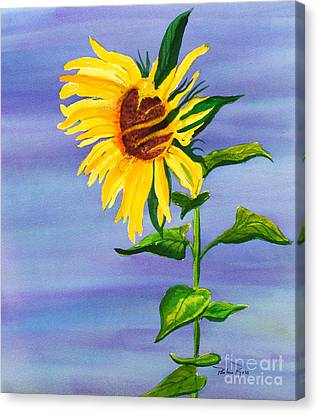 Sunflower Canvas Print by Pauline Ross