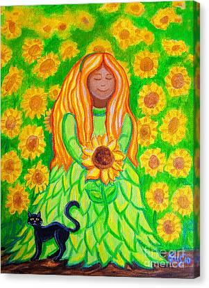 Sunflower Princess Canvas Print by Nick Gustafson
