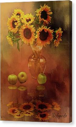 Sunflower Reflections Canvas Print by Theresa Campbell