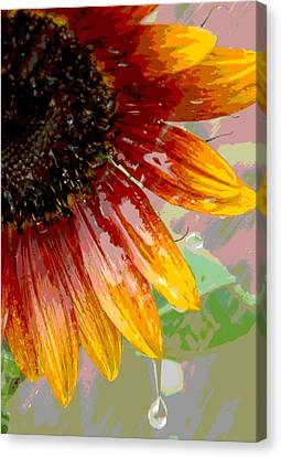 Canvas Print featuring the photograph Sunflower Shower by Lori Mellen-Pagliaro