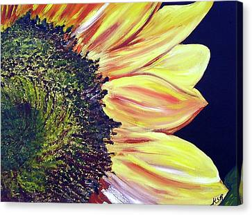 Sunflower Single Canvas Print by Maria Soto Robbins