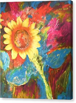 Sunflower Song Canvas Print by Esther Newman-Cohen