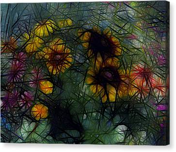 Sunflower Streaks Canvas Print