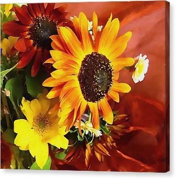 Sunflower Strong Canvas Print by Kathy Bassett