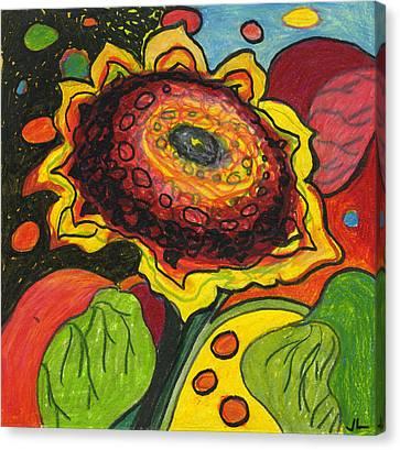 Sunflower Surprise Canvas Print by Jennifer Lommers