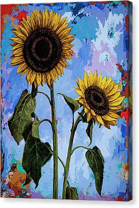 Sunflowers #1 Canvas Print by David Palmer