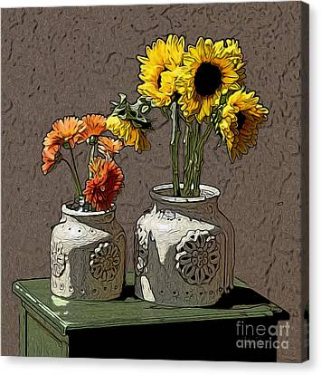 Sunflowers Canvas Print by Anthony Forster