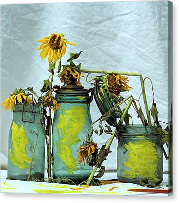 Sunflowers Canvas Print by Bernard Jaubert