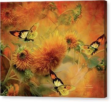 Sunflowers Canvas Print by Carol Cavalaris