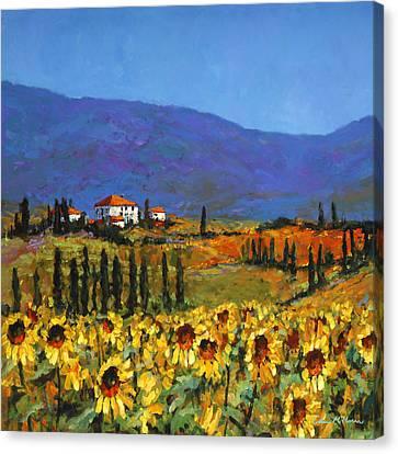 Sunflowers Canvas Print by Chris Mc Morrow