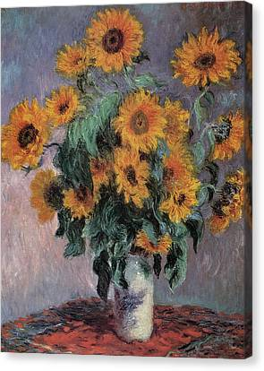 Bouquets Canvas Print - Sunflowers by Claude Monet