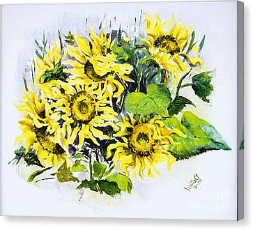 Sunflowers Canvas Print by Elisabeta Hermann
