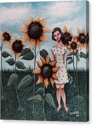 Sunflowers Canvas Print by Graciela Bello