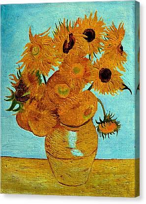 Sunflowers Canvas Print by Henryk Gorecki