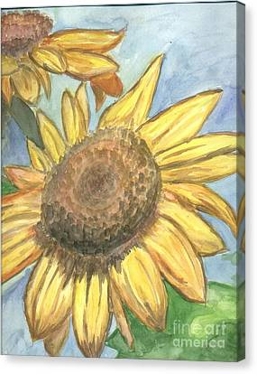 Sunflowers Canvas Print by Jacqueline Athmann
