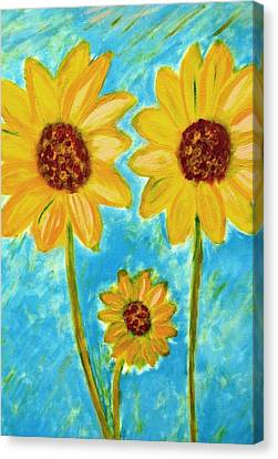 Sunflowers Canvas Print by John Scates