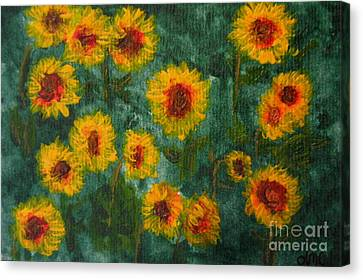Sunflowers Canvas Print by Lynne Reichhart