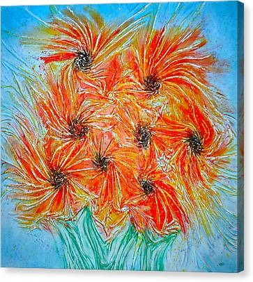 Sunflowers Canvas Print by Marie Halter