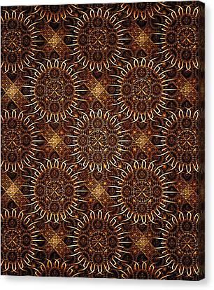 Sunflowers - Pattern - Fractal Canvas Print by Anastasiya Malakhova