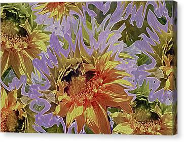 Sunflowers Rising 34 Canvas Print by Lynda Lehmann