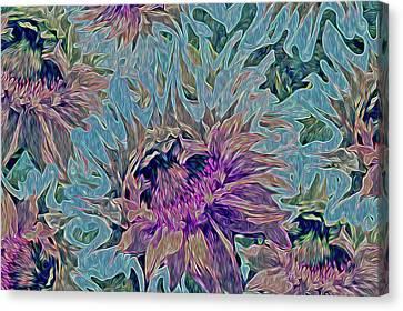 Sunflowers Rising 39 Canvas Print by Lynda Lehmann