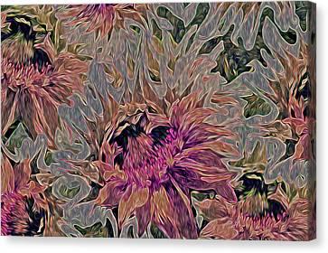 Sunflowers Rising 42 Canvas Print by Lynda Lehmann