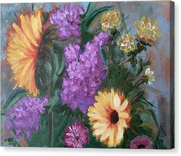 Sunflowers Canvas Print by Sharon Schultz