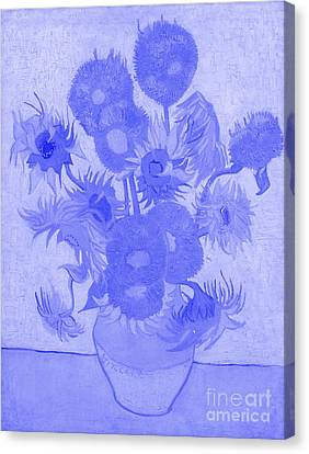 Sunflowers Vincent Van Gogh Japanese Porcelain Concept Canvas Print