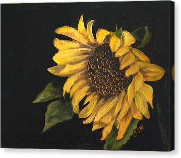 Canvas Print featuring the painting Sunflowervi by Sandra Nardone