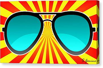 Sunglasses Craze Canvas Print