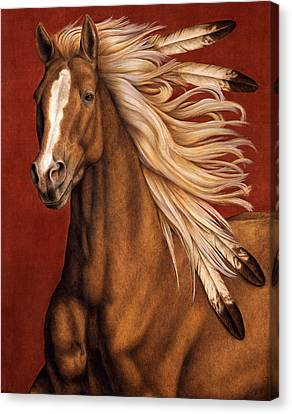 Feathers Canvas Print - Sunhorse by Pat Erickson