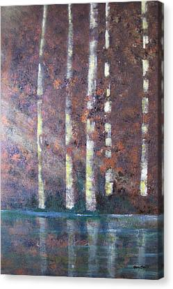 Sunlight And Birch Canvas Print by Gary Smith