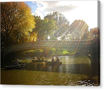 Sunlight And Boats - Central Park -  New York City Canvas Print by Vivienne Gucwa