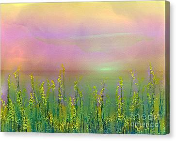 Sunlight At The Edge Of The Sea Canvas Print by Judi Bagwell
