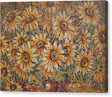 Canvas Print featuring the painting Sunlight Bouquet. by Natalie Holland