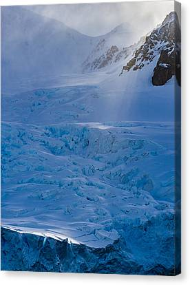 Sunlight On Ice - Antarctica Photograph Canvas Print by Duane Miller