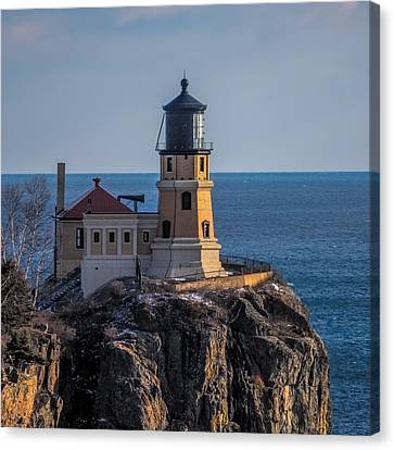 Sunlight On Split Rock Lighthouse Canvas Print