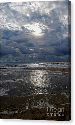 Canvas Print featuring the photograph Sunlight Reflected by Linda Mesibov
