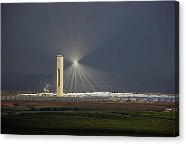 Sunlight Reflects Off Of Low Clouds Canvas Print by Michael Melford