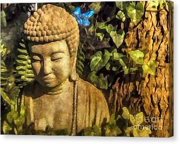 Sunlit Buddha 2015 Canvas Print