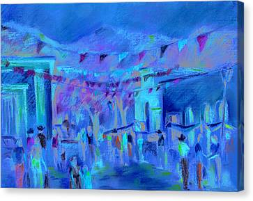 Sunlit Market Canvas Print