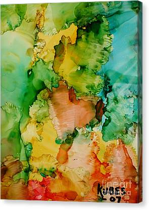 Sunlit Reef Canvas Print by Susan Kubes