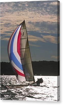 Sunlit Sails - Lake Geneva Wisconsin Canvas Print