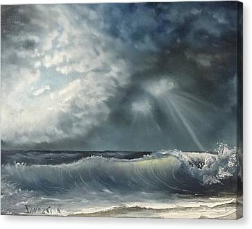 Sunlit Sea Canvas Print